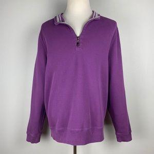 Robert Talbott Purple 1/4 Zip Sweater
